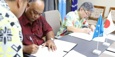 Japan Donates $3,700,000 to Support the FSM Fisheries & Maritime Institute
