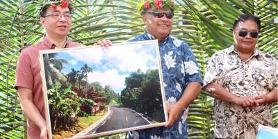 """$14,300,000 Pohnpei Secondary Road Project Complete Thanks to Generous Assistance from People's Republic of China; """"Please Tell My Dear Friend, President Xi Jinping, that Micronesia Says Thank You,"""" President Panuelo Says to Ambassador Huang"""